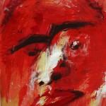 Rote Zora - Acryl auf Papier 2010 (70x90cm)
