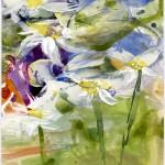 Sommerwiese - Acryl auf Papier 2012 (90x90cm)