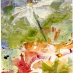 Blüten im Wind - Acryl auf Papier 2012 (13,5x19cm)