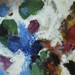 Tausend Tage Farbe I - Acryl auf Papier 2012 (27x27cm)