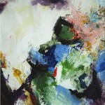 Tausend Tage Farbe II - Acryl auf Papier 2012 (27x27cm)