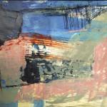 blaues Quadrat - Acryl auf Papier 2012 (42 x 30cm)