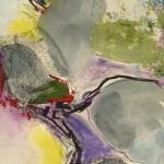 Farbe in Bewegung - Acryl auf Papier 2012 (9,5x20cm)