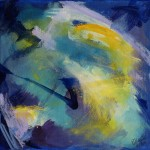 Dem Himmel nah - Acryl auf Leinwand 2014 (30x30cm) verkauft