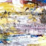 Die Melodie - Collage / Acryl 2014 (29x16cm)