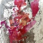 Schmerzen - Acryl auf Papier 2009 (50x70)