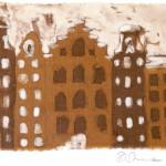 Gracht in Amsterdam - Batik 1978 (16x11,5cm) verkauft