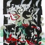 Abstrakter Tanz - Acryl auf Papier 2016 (30x40cm)