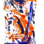 Korallenrot I - Acryl auf Papier 2016 (20x30cm)