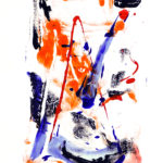 Korallenrot II - Acryl auf Papier 2016 (20x30cm)