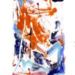 Korallenrot III - Acryl auf Papier 2016 (20x30cm)