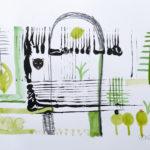 Hängende Gärten - Acryl auf Papier 2016 (20x30cm)