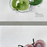 an apple a day - Aquarell 2018 (20x42cm)