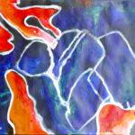 Ariadnes Faden Acryl 2020 (29x42cm)